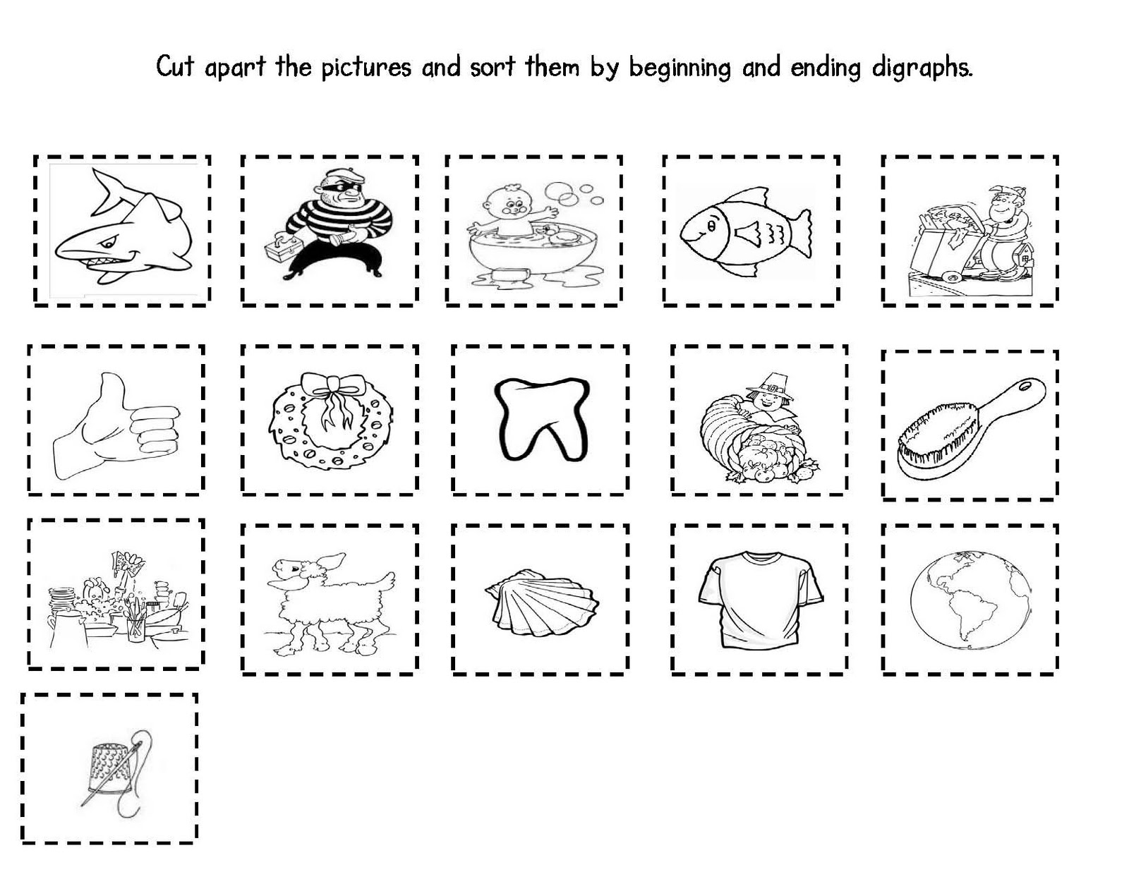 Worksheet 12371600 Sh Worksheets for Kindergarten Sh Ch Th – Ch Worksheets for Kindergarten