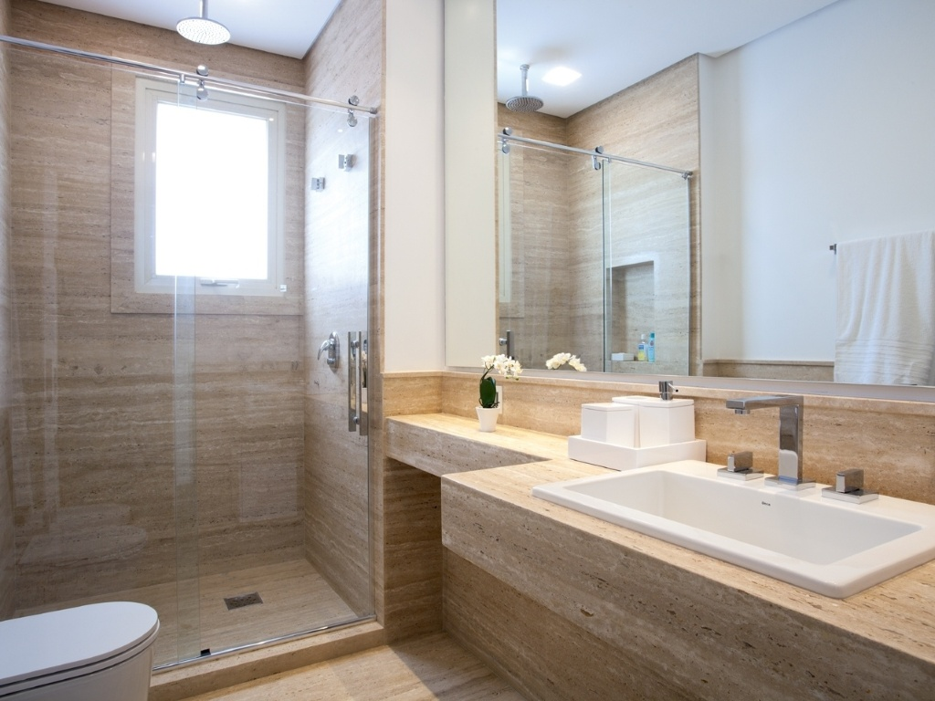 Ou você prefere que ele seja assim? #4B3B28 1024x768 Banheiro Azulejo Ou Tinta