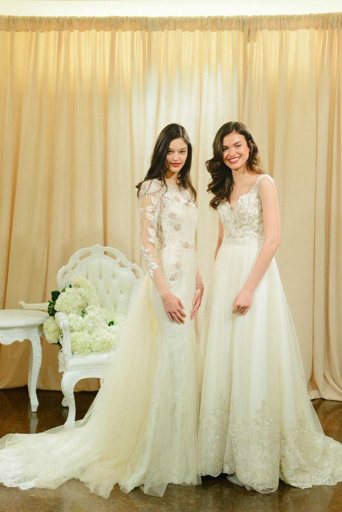 Bridal Fashion Week 2015 New York City Weddings Badgley Mischka Highly Embellished Embroidered Wedding Gown