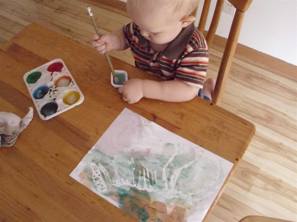 how to make shiny paint for preschool