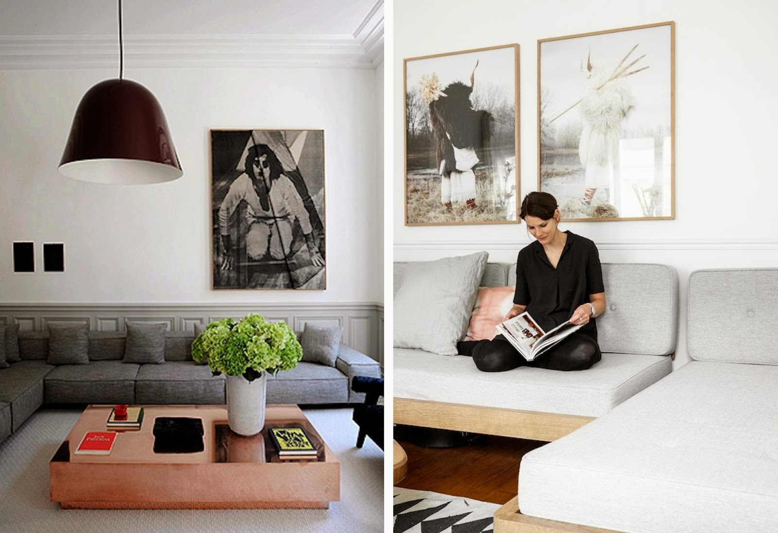 BLACK. WHITE. YELLOW.}: Inspiration for the Living Room | Low and Grey