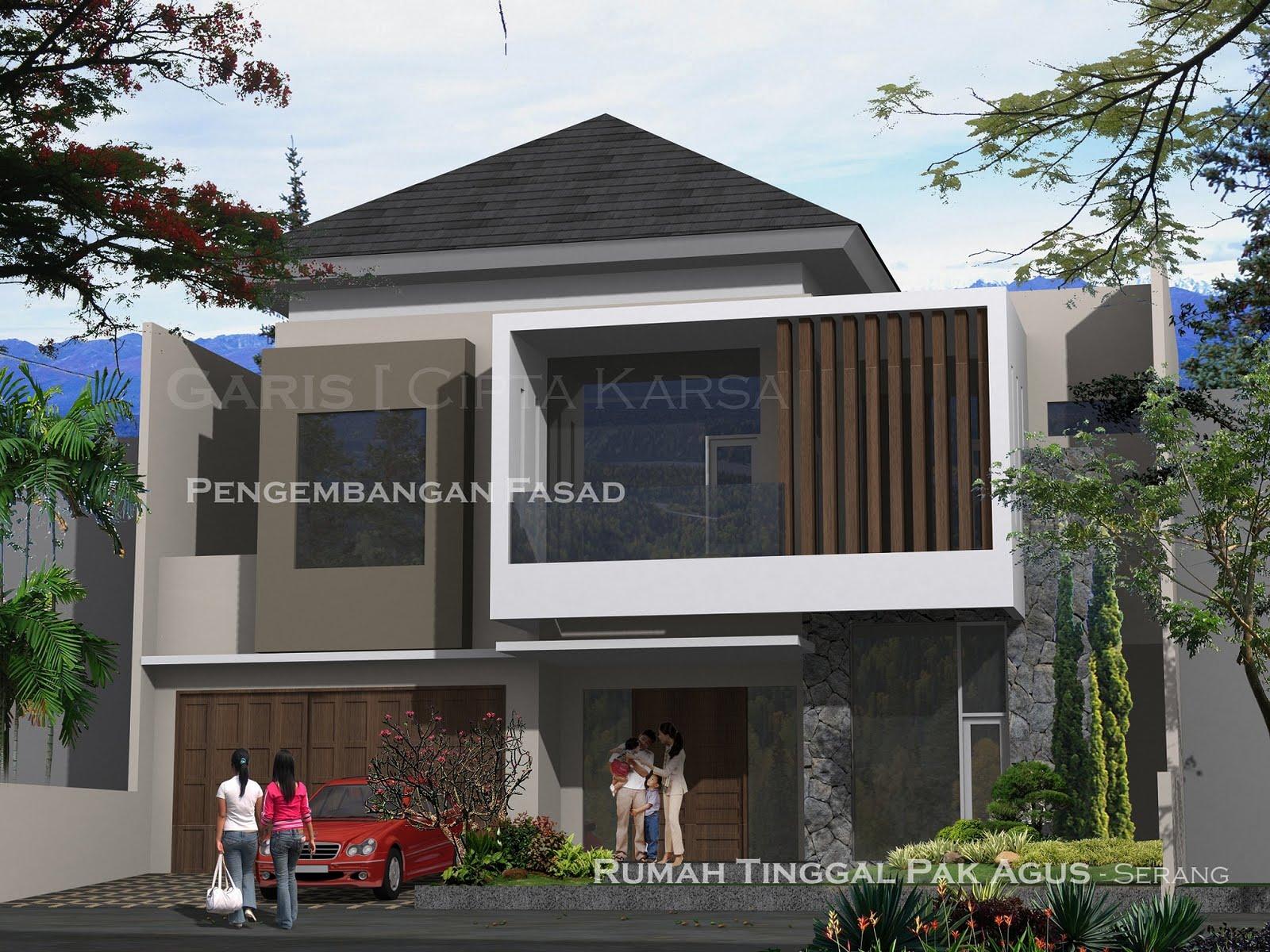 Pengembangan Desain Fasad Rumah Minimalis