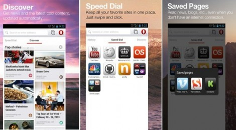 Opera's new Webkit browser for Android