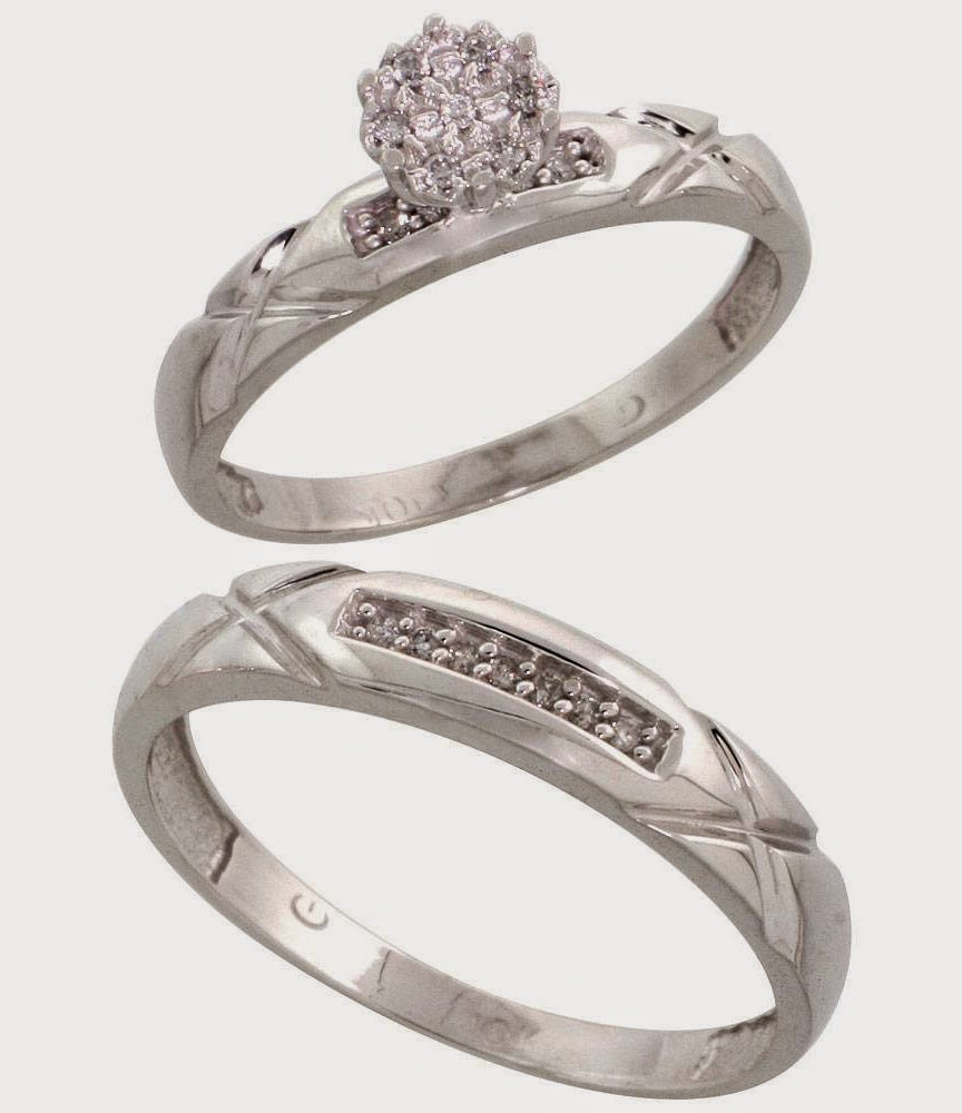 Affordable Silver Wedding Rings Sets with Luxury Stone Model pictures hd