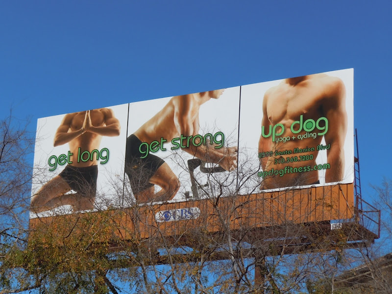 Updog yoga fitness billboard