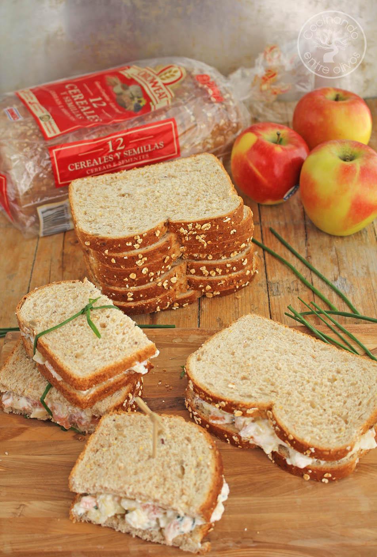 Cocinar Entre Olivos   Sandwich De Salmon Ahumado Y Manzana Receta Paso A Paso