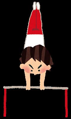 体操競技のイラスト「鉄棒」