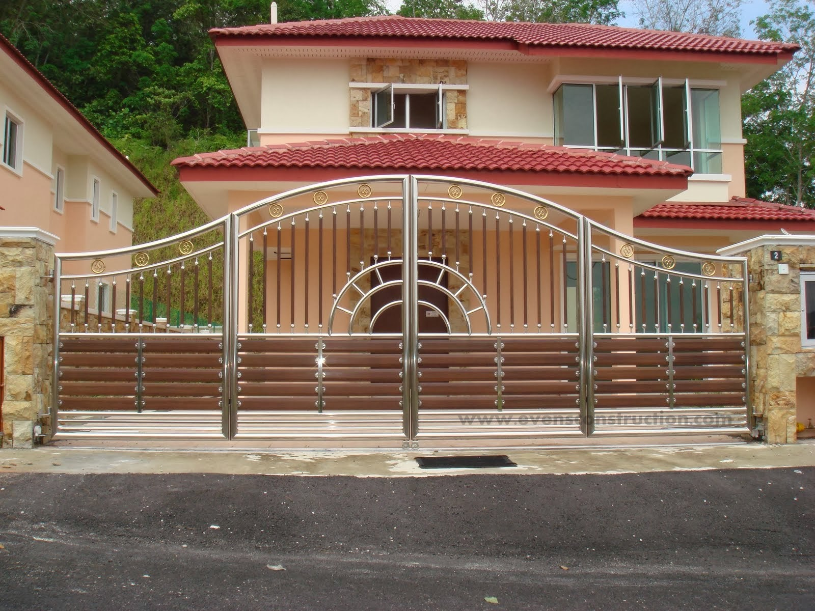 Design Of Compound Wall Gate : Compound wall gate joy studio design gallery best