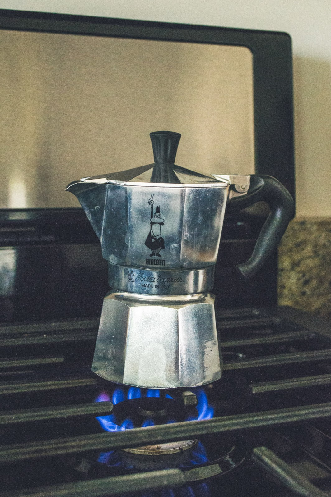Bialetti Moka Pot on stove