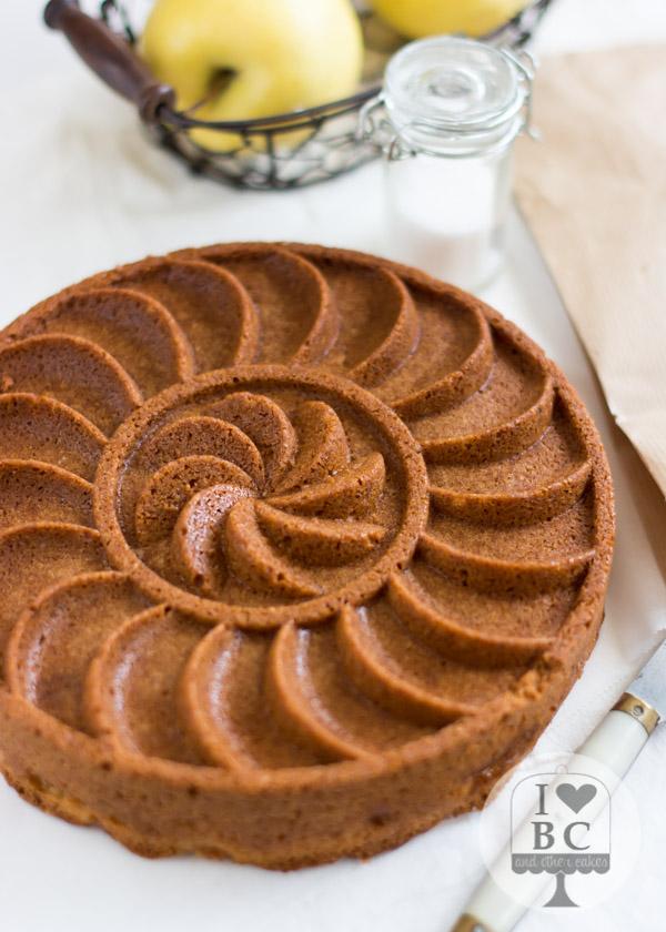 Cake Judio de manzana invertido (sin lactosa)