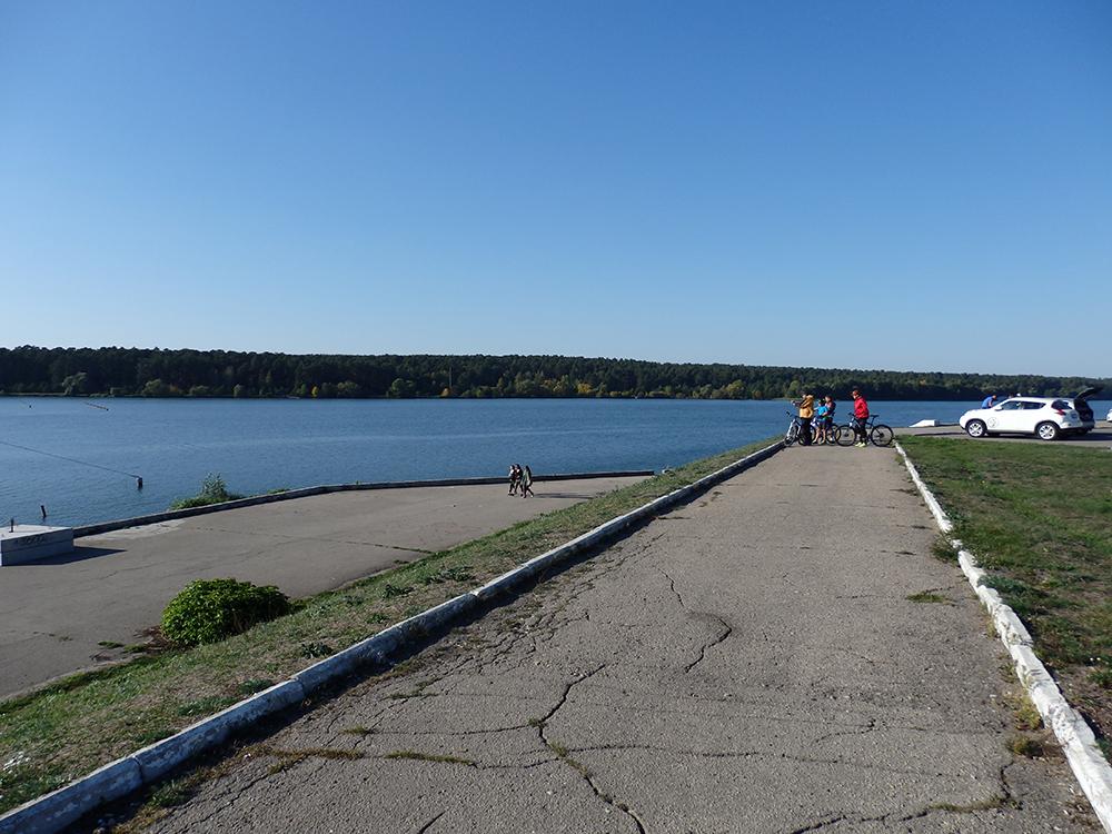 водохранилище, вода, велосипед, осень
