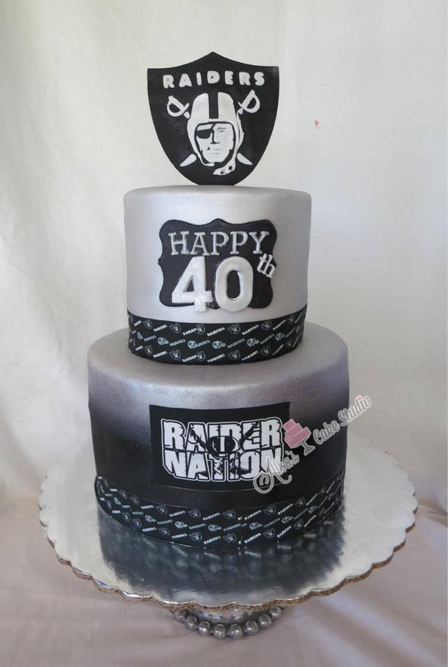 This 40th Raiders Birthday Cake is great for men or any raiders fans ...