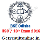 Odisha Board HSC Time Table 2016