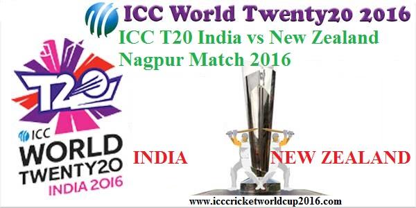 ICC T20 India vs New Zealand Nagpur Match Result 2016