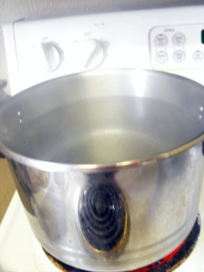 how to clean a badly scorched pot