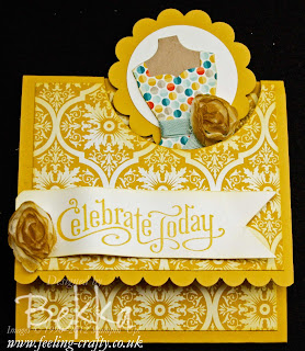 Dress Up Pop Through Card by Stampin' Up! Demonstrator Bekka Prideaux - she teaches people to make beautiful cards like this at her classes - check them out here