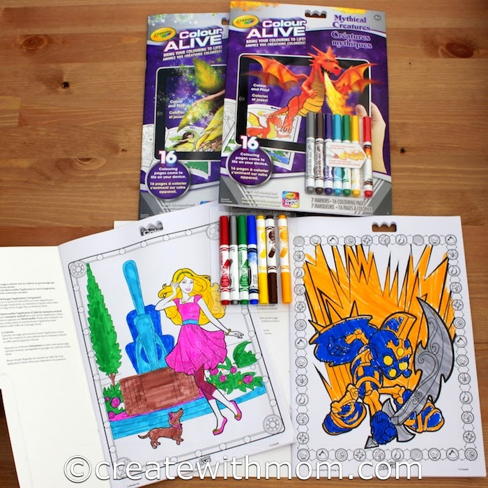 When Children Are Done Colouring The 16 Pages That In Each Book They Can Print Additional Action From App Colour Alive Is