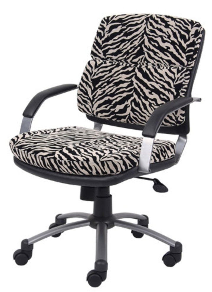 Faux Zebra Upholstery Chair for Animal Lovers