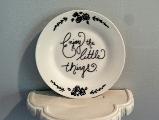 Enjoy the Little Things sharpie dish