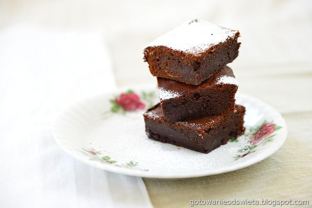 brownie przygotowane