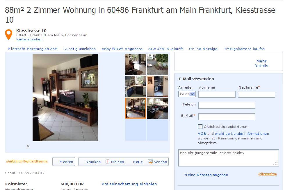 88m 2 zimmer wohnung in 60486 frankfurt am main frankfurt. Black Bedroom Furniture Sets. Home Design Ideas