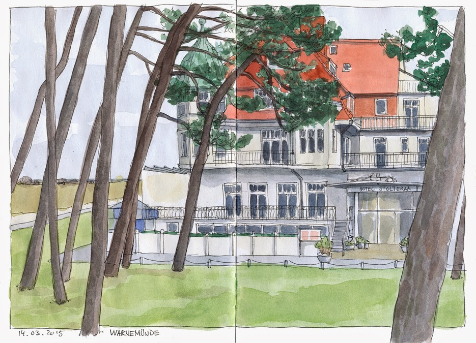 Urban sketchers germany warnem nde for Hotelzimmer warnemunde