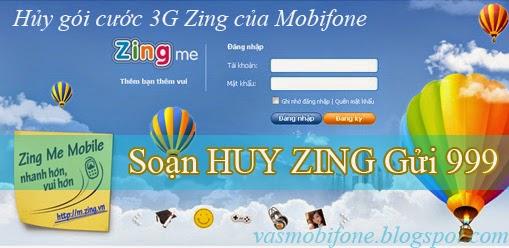 Hủy gói cước Zing của Mobifone