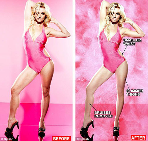 Celebrity Photoshop Before and After