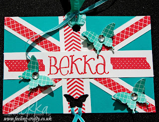 UK Based Demonstrator Bekka Prideaux's Bag Tag for Stampin' Up! 2013 Convention in the USA