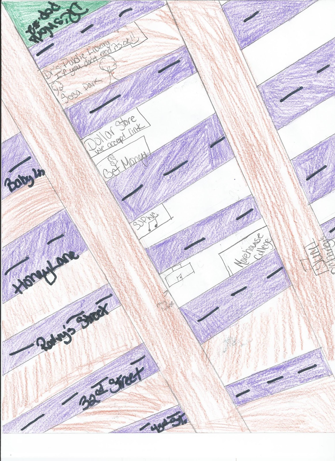 Geometry Line Design Project : Misscalcul made math city design project
