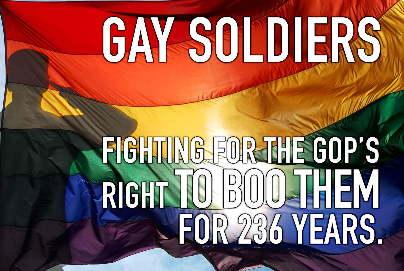 Labels: DADT, gay rights, Military, repugs