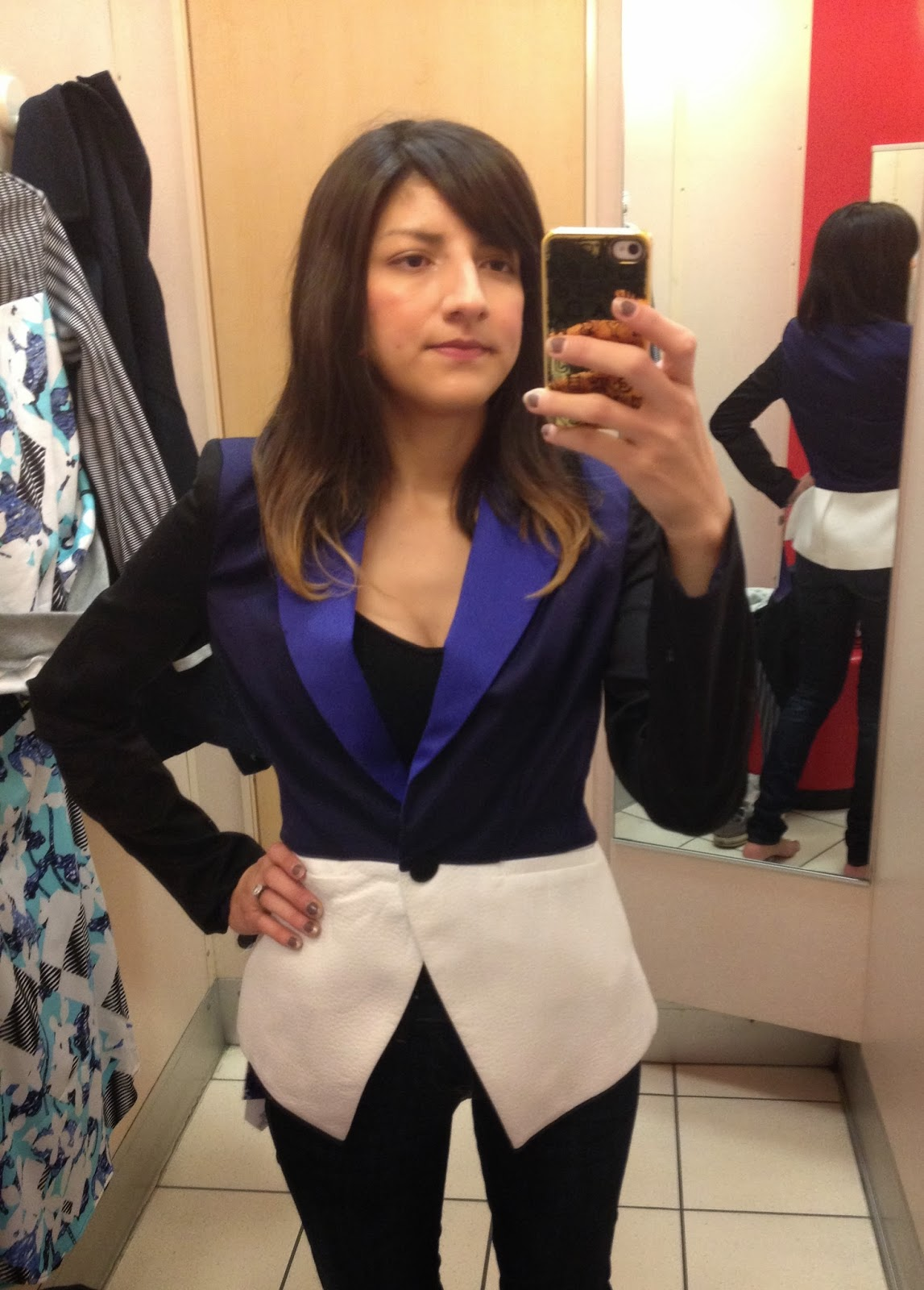 peter pilloto for target colorblock blazer