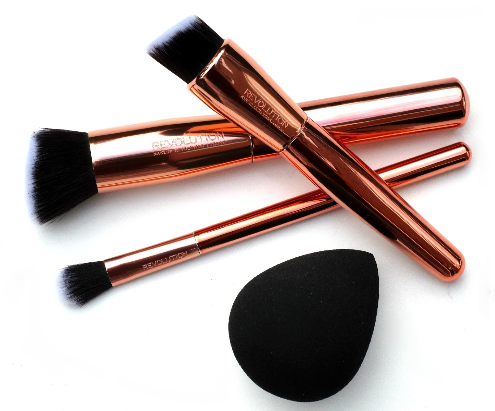 Makeup revolution brushes rose gold