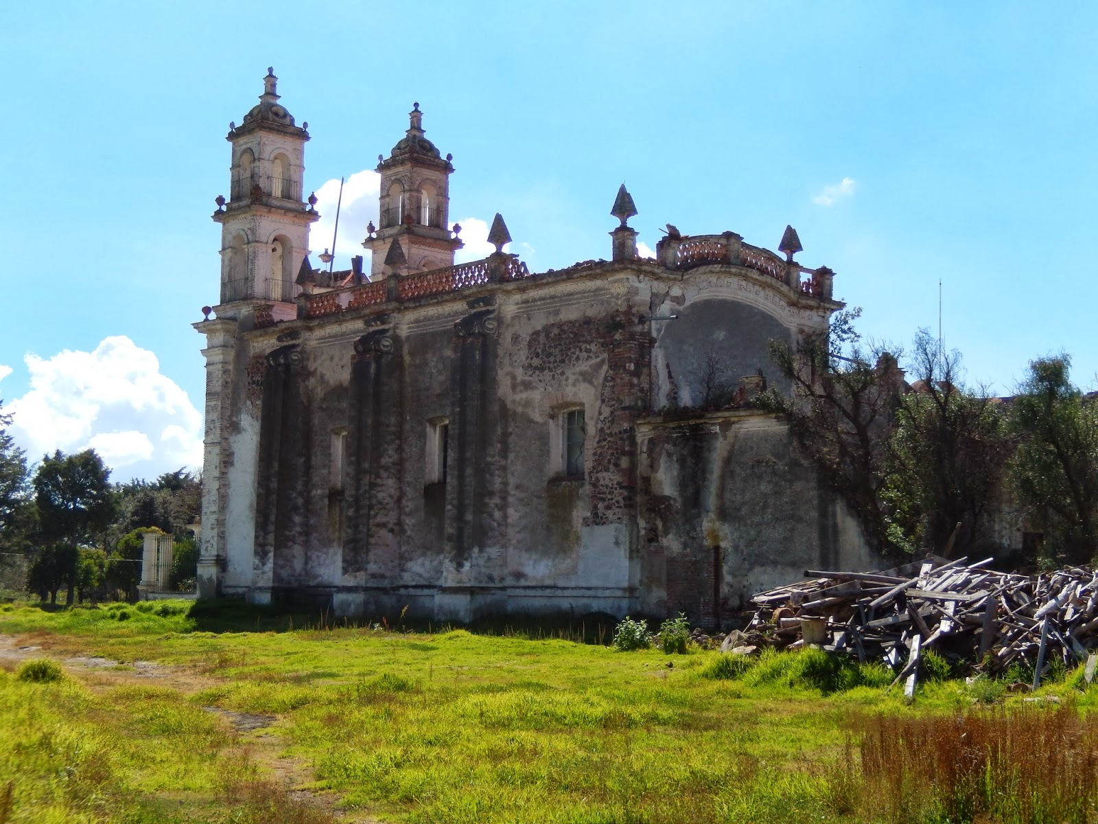 iglesia, ruinas, emiliano zapata, hidalgo, mexico