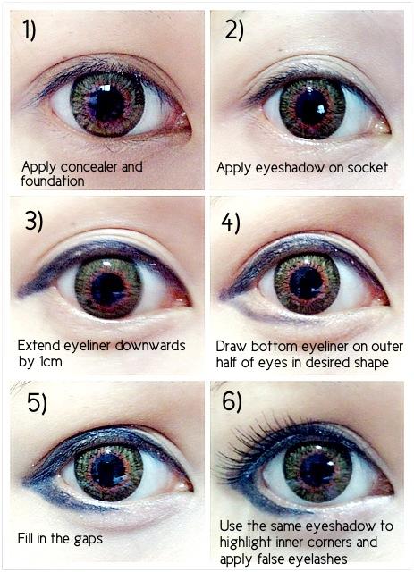 Korean makeup eyes tutorial mugeek vidalondon korean eyes makeup ccuart Images