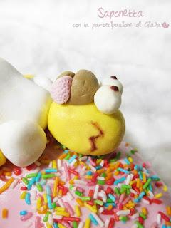 pasta di zucchero torta homer