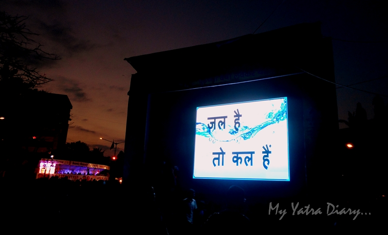 Save water message spread during the festival of Ganesh Visarjan, Mumbai