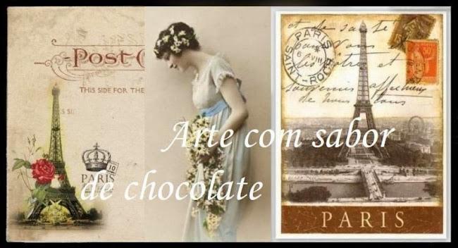 arte com sabor de chocolate