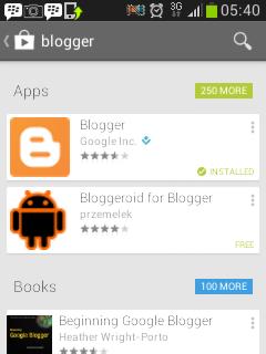 Aplikasi blogger untuk android di playstore