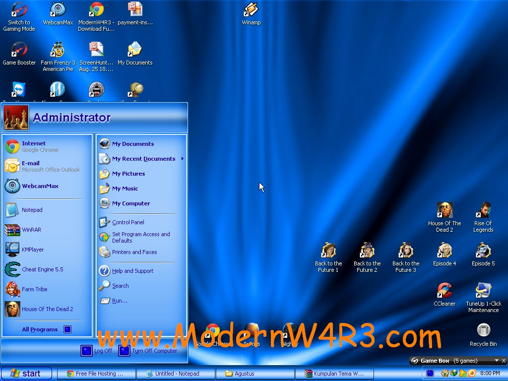 Download 20 Kumpulan Tema Windows XP yang Keren