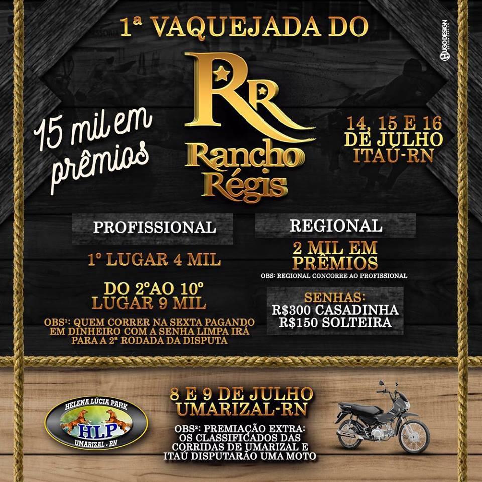 VAQUEJADA NO RANCHO REGIS EM ITAÚ-RN
