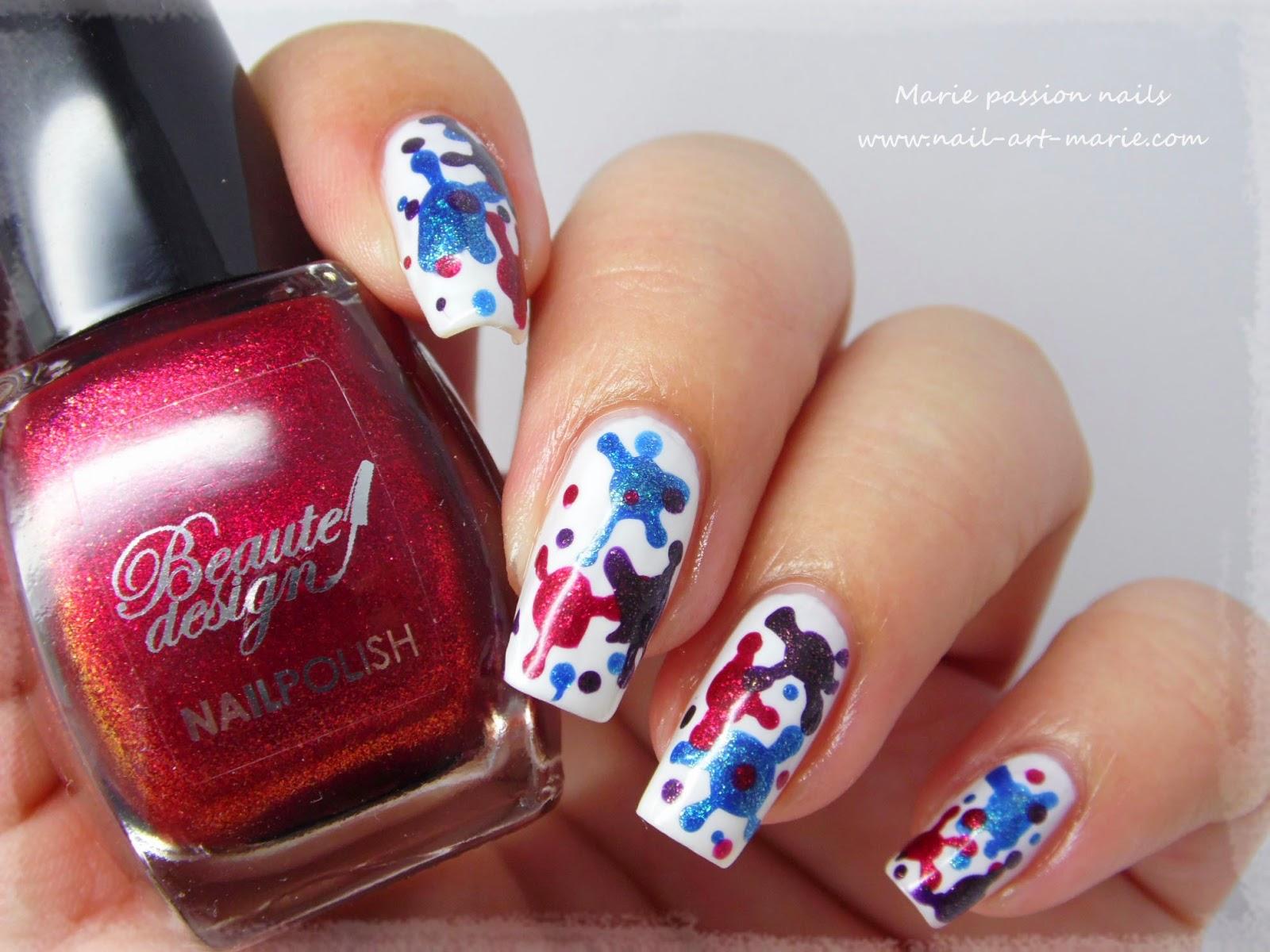 nail art taches de vernis3