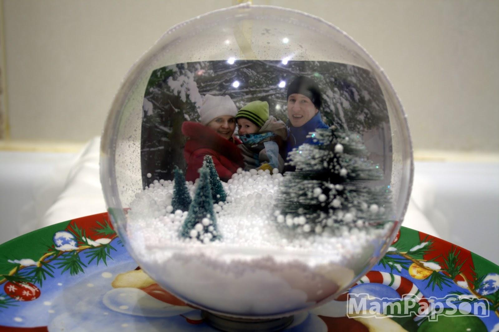 Как сделать новогодний шар с фотографией внутри