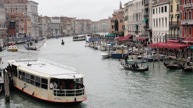 view from the Rialto bridge in Venice