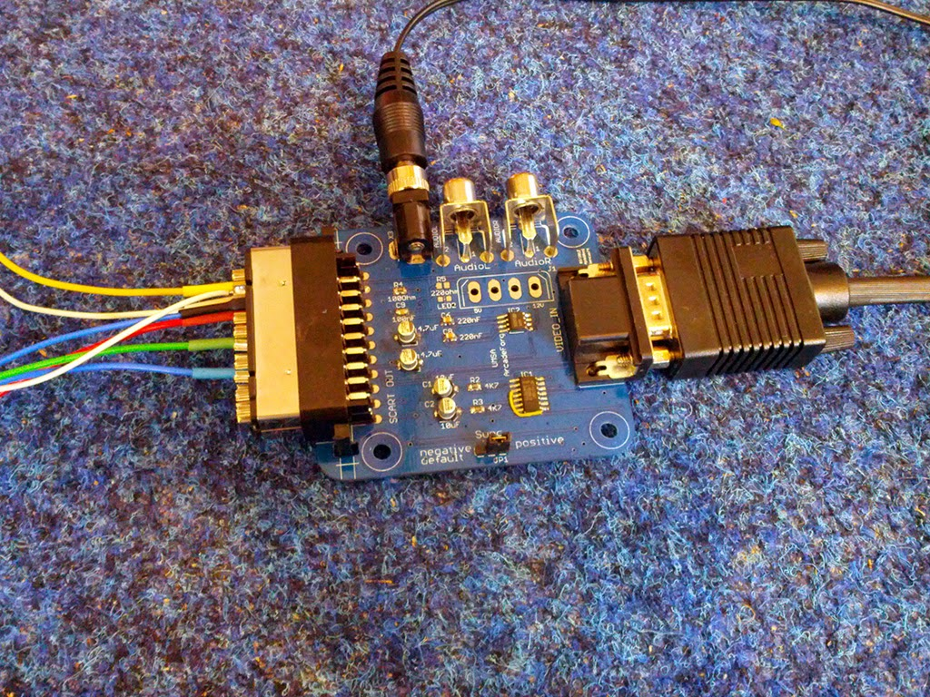 Scart Hunter Adding Rgb To A Non Television Vga Schematic Using The Umsa For Composite Sync And 5v Output