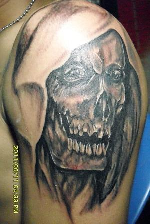 Tattoo angel inside,Tattoo skull, Dark religion