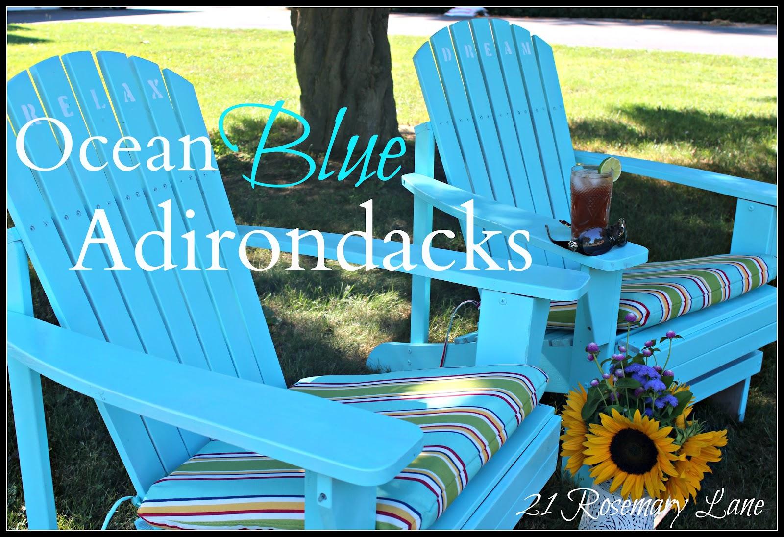 My Freshly Painted Adirondack Chairs
