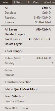 Photoshop CC شرح قائمة Select