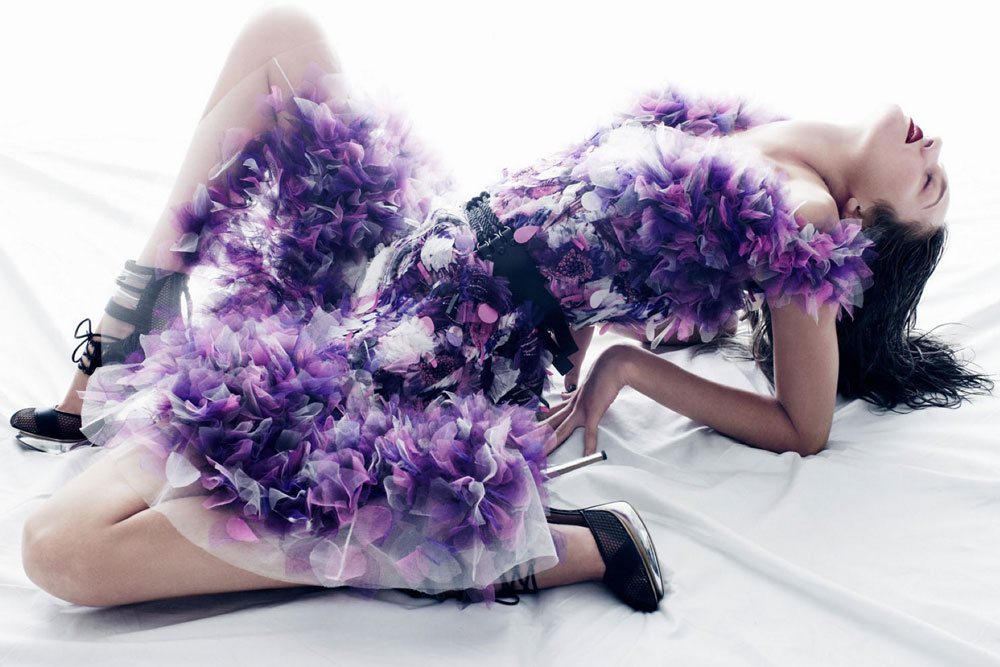 Candice Swanepoel in Prabal Gurung Spring/Summer 2012 campaign (photography: Daniel Jackson)
