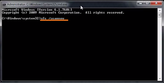 cmd sfc /scannow screenshot